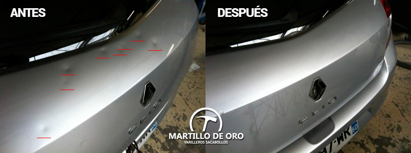 reparar granizo coche